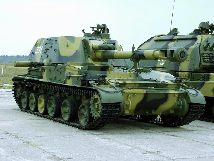 2s3 Akatsiya 152 Mm Spg Russian Army Military Military