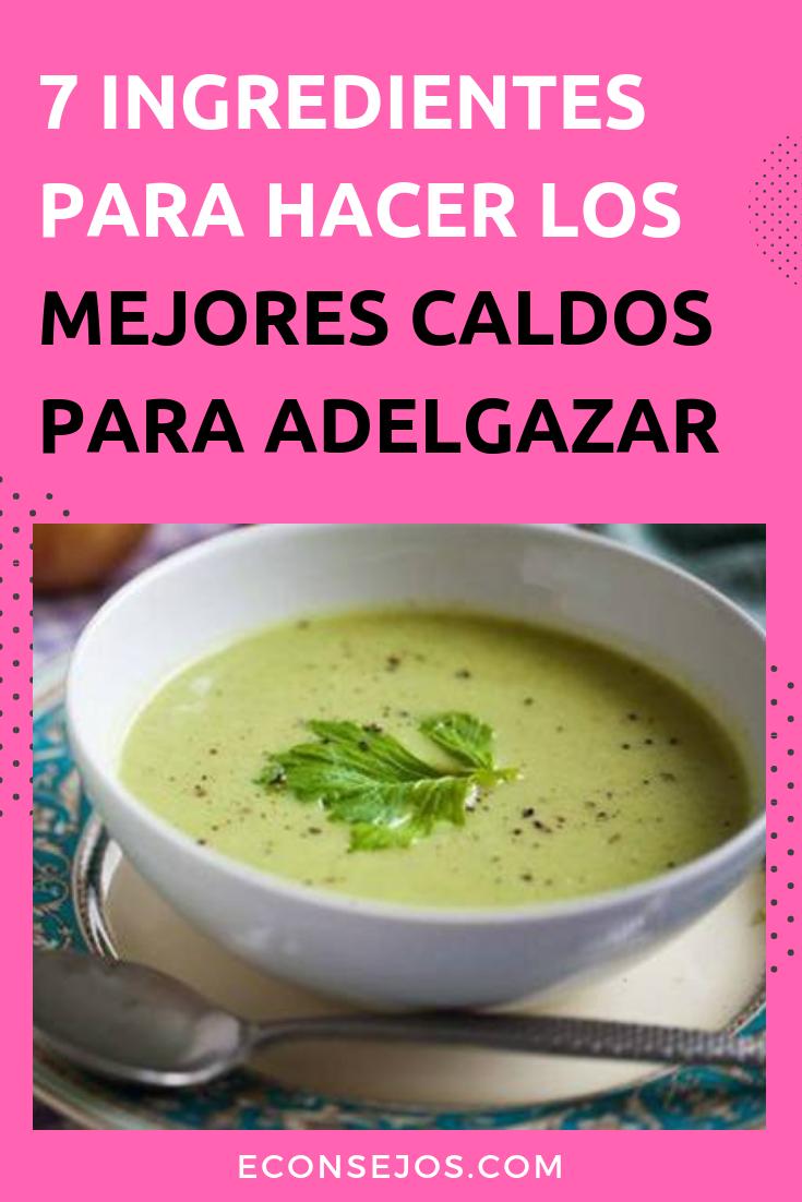 Sopa para adelgazar verduras
