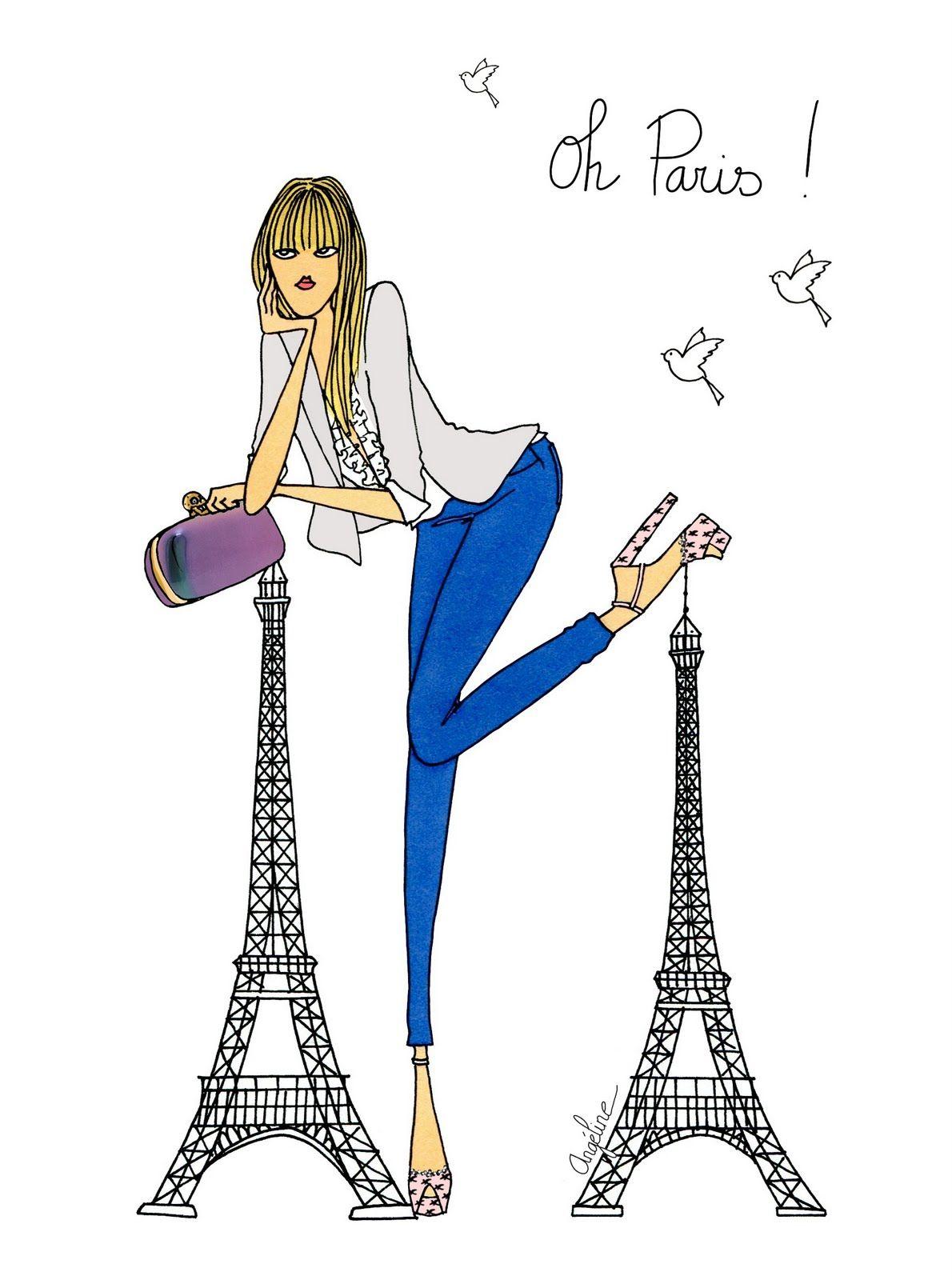 Angeline melin dessin paris pinterest la parisienne - Dessin parisienne ...