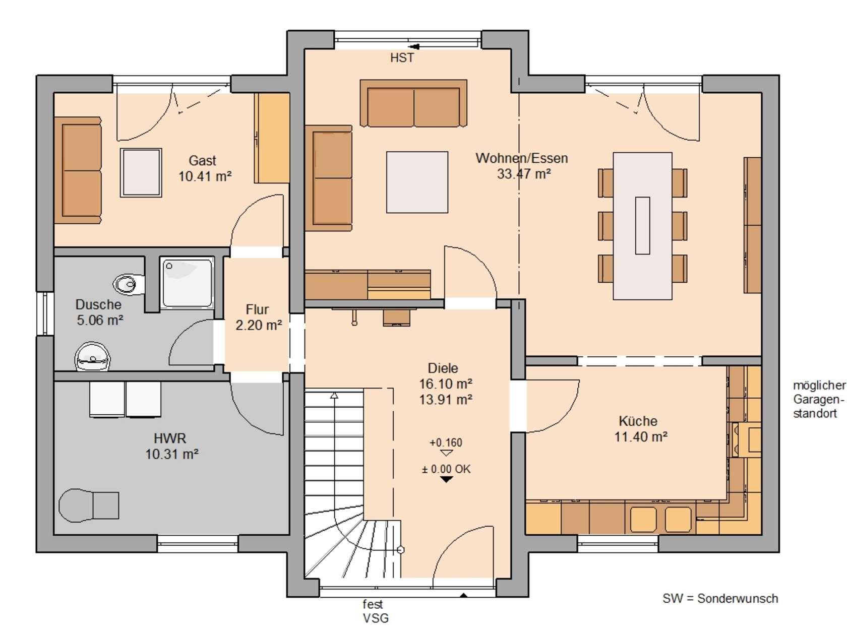 familienh user haus haus grundriss kern haus. Black Bedroom Furniture Sets. Home Design Ideas