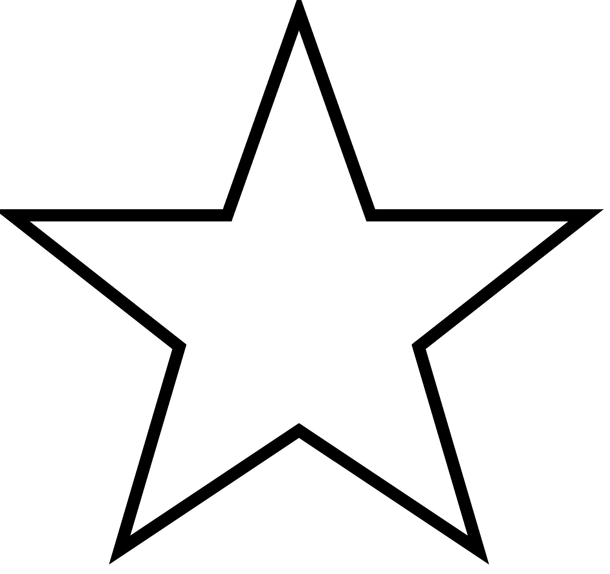 5 Point Star Outline Thatswhatsup Star Template Star