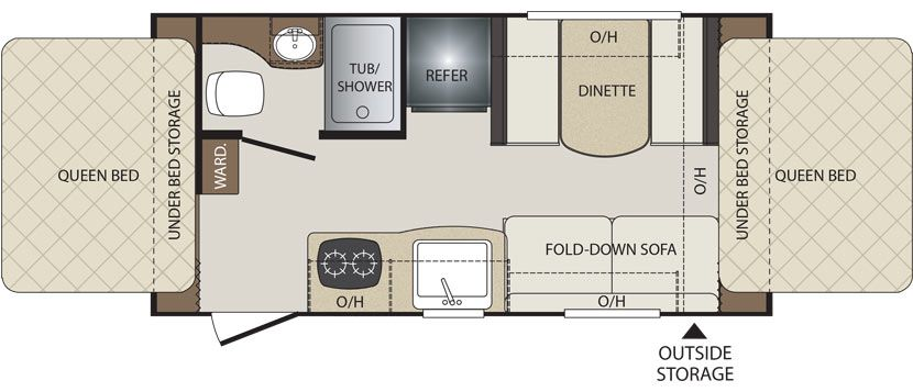 Floorplan Image Of Keystone Bullet Model 1650EX.