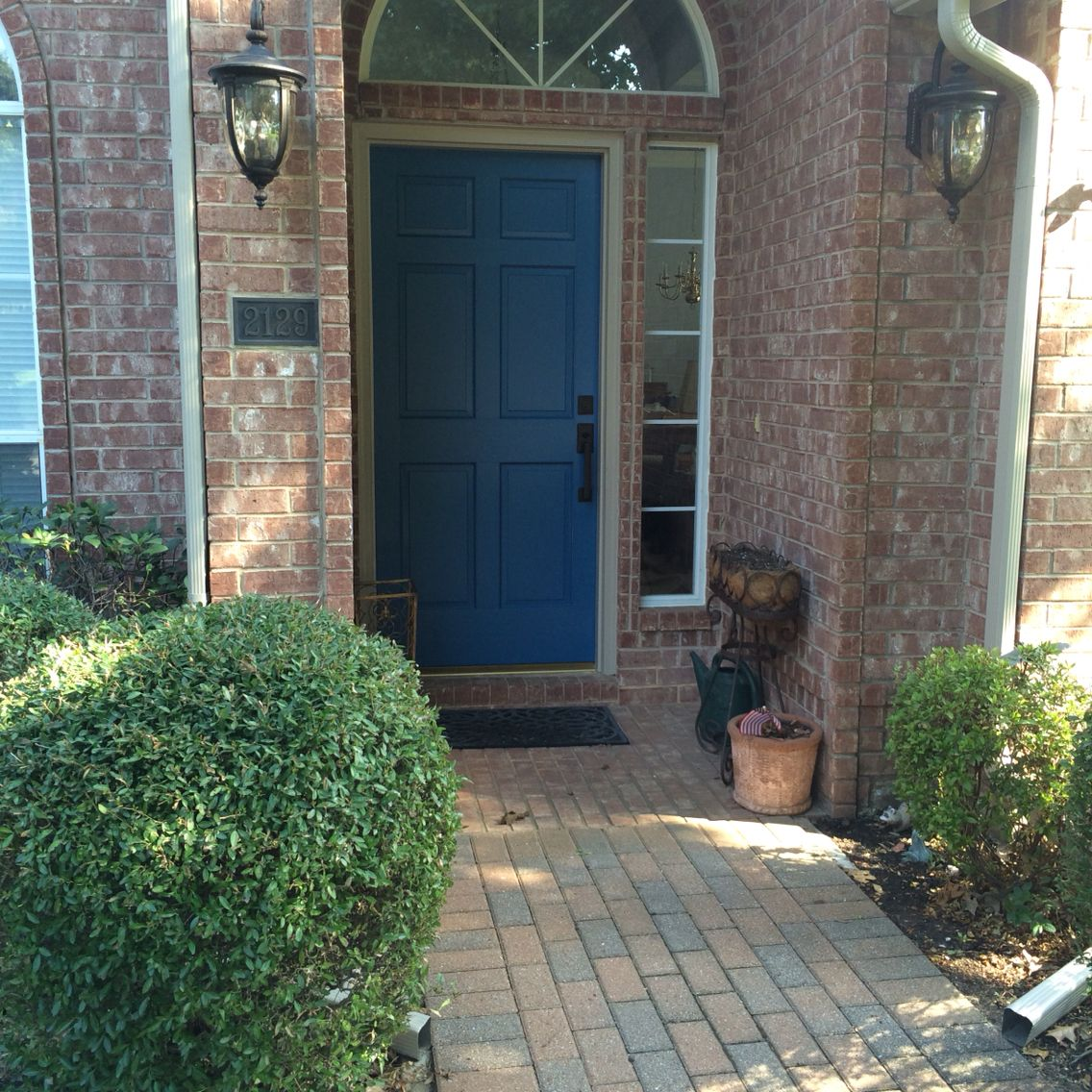 front door patio color | Our front door - new color and hardware. I love it. Color ...