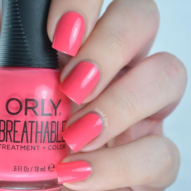 Orly Breathable Swatches Nail Art With Images Nails Coral
