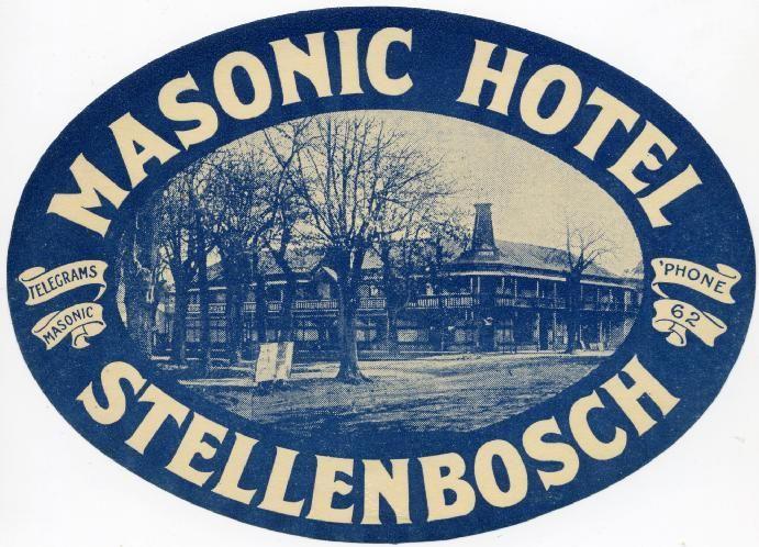 Masonic Hotel Stellenbosch Vintage Travel Posters Tourism Design Vintage Hotels
