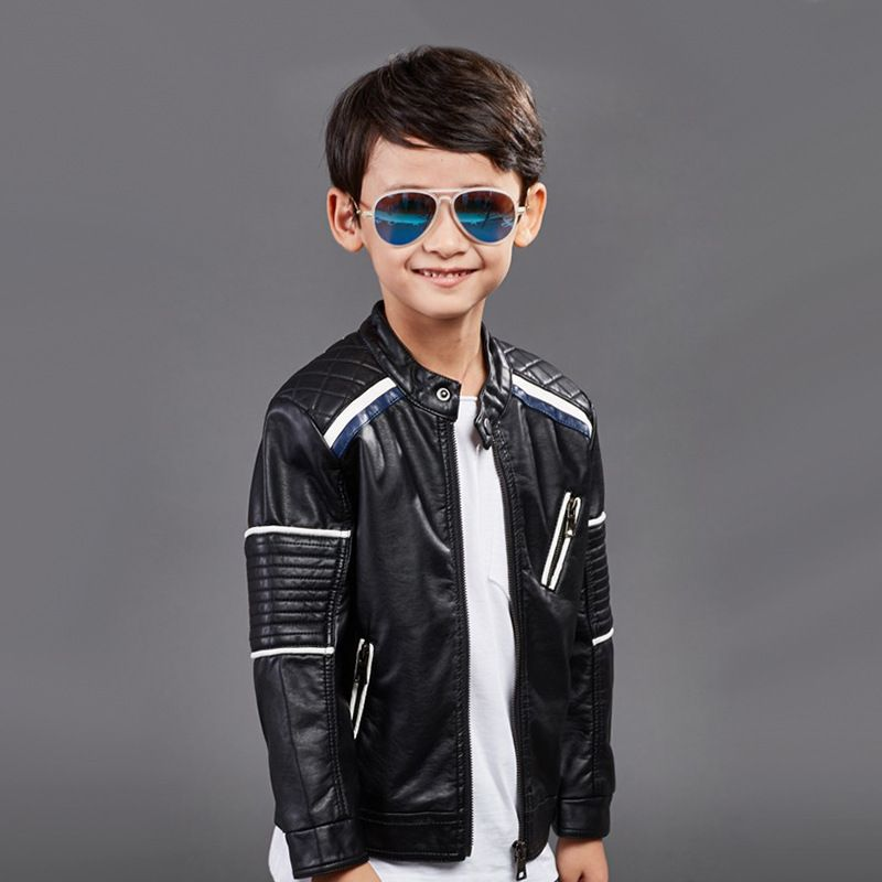 2f3dd30b2 Baby Boys Leather Jacket Kids Girls And Coats Spring Kids Leather ...