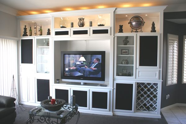 We Design, Build And Install Custom Wall Units And Entertainment Center  Cabinets.