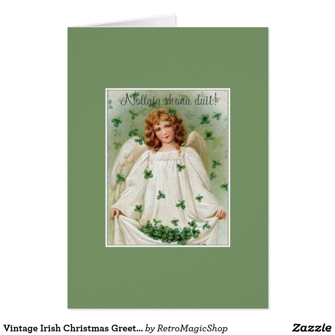 Vintage irish christmas greeting card vintage international vintage irish christmas greeting card m4hsunfo