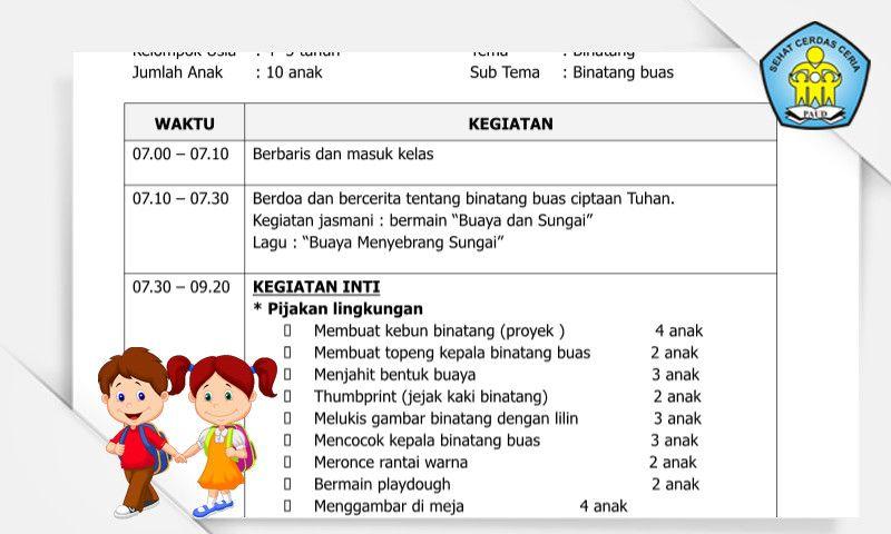 Contoh Rkh Sentra Seni Dan Kreativitas Tema Binatang Format Microsoft Word Microsoft Word Words Microsoft
