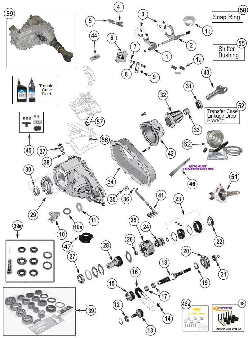 np 231 transfer case parts for wrangler tj  yj  cherokee xj  grand cherokee zj