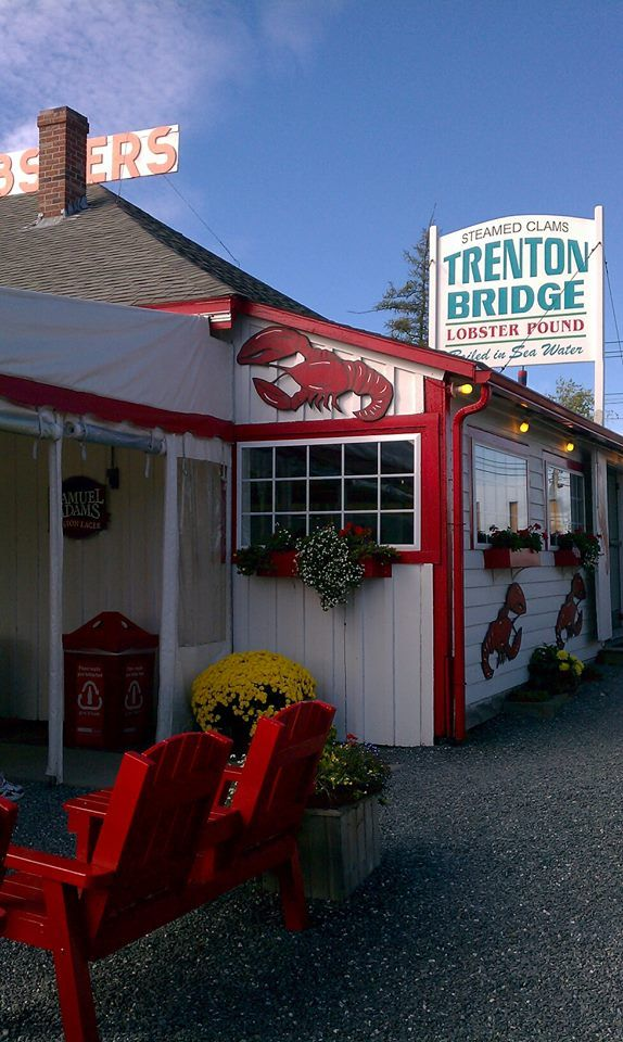 Maine--Trenton Bridge Lobster Pound, a landmark in the Bar Harbor area...we had lobsters from here and even had some shipped home!!!  slj