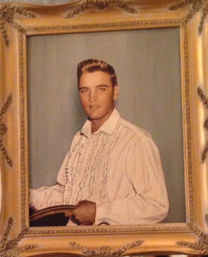 Picture Of Elvis Hanging In Graceland Blonde Hair Blue Eyes