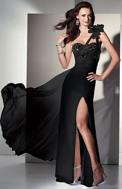 ce9ee7fd Alyce Paris Black Label Leopard Print Chiffon Evening Dress 5441 at  frenchnovelty.com