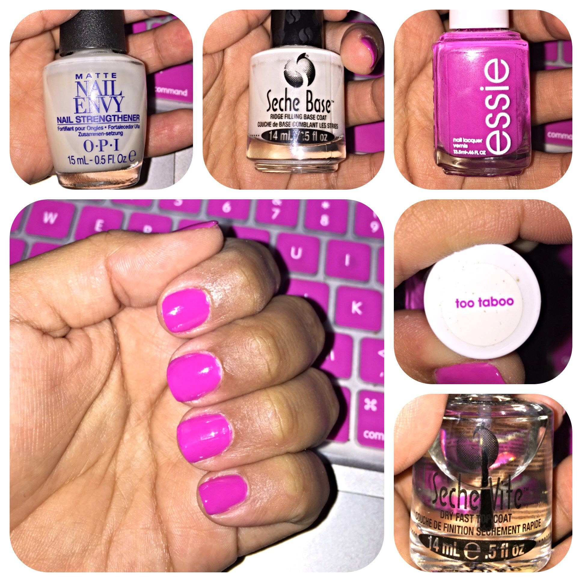 This manicure was two coats of the Essie\'s Too Taboo nail color. I ...