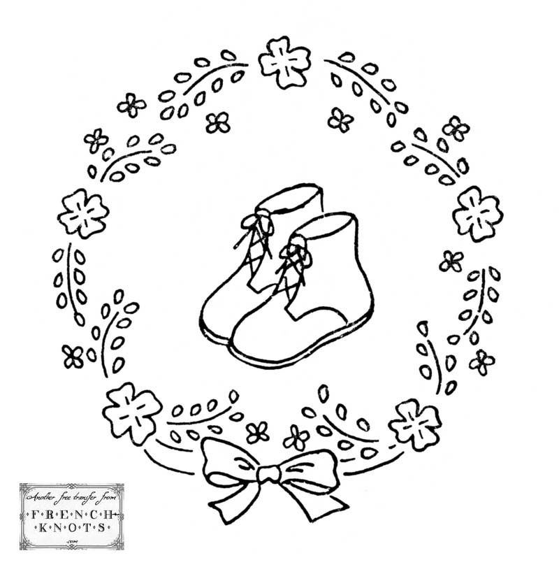 Vintage embroidery patterns free adorable baby