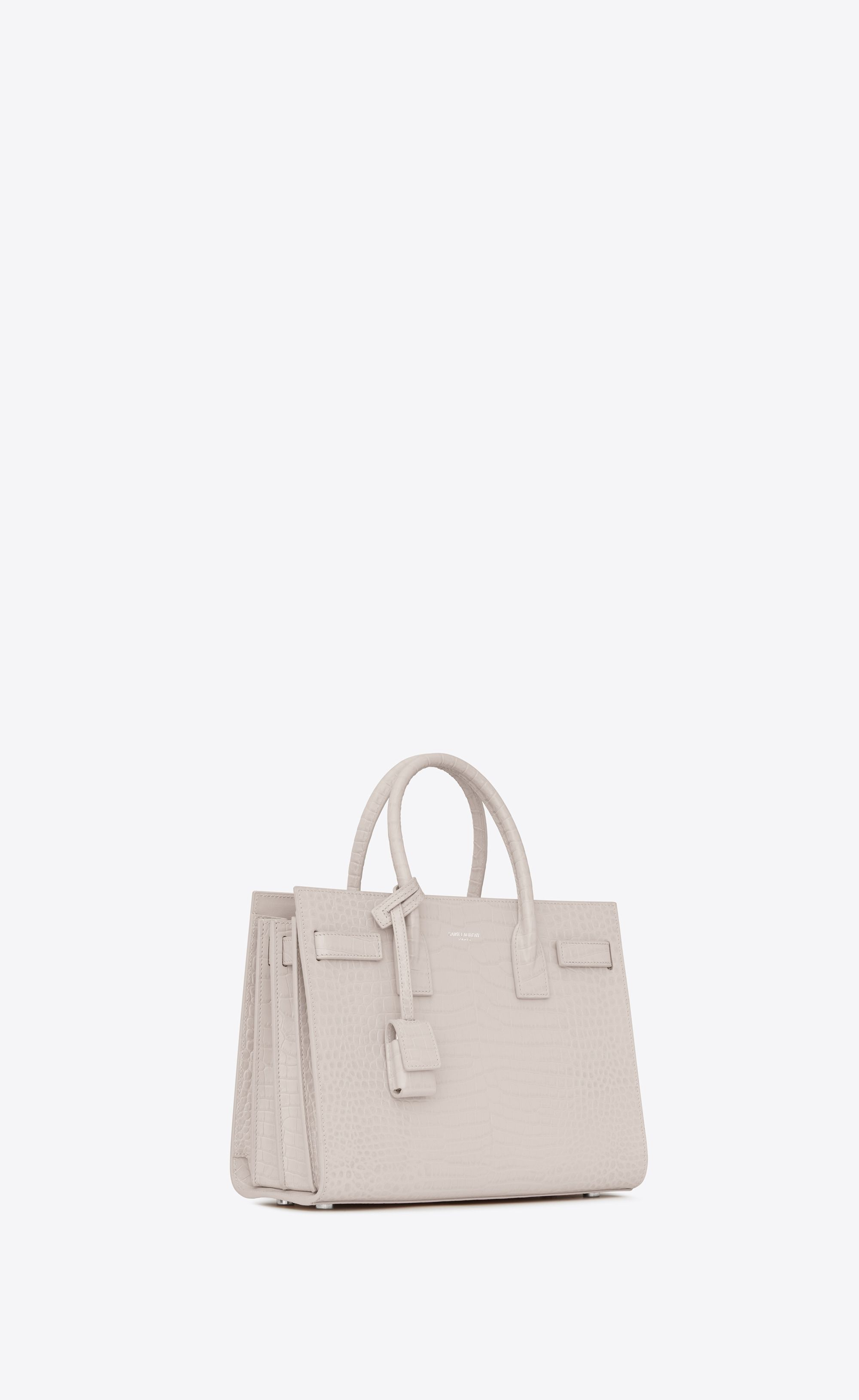 70084064 Saint Laurent - Classic Baby Sac de Jour bag in cream crocodile ...