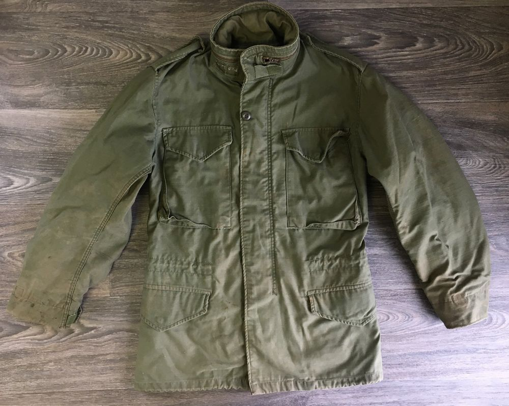 Vietnam M65 Cold Weather Vintage 70s Field Coat Scoville Jacket Hood Army  USA 845e7b6a1db