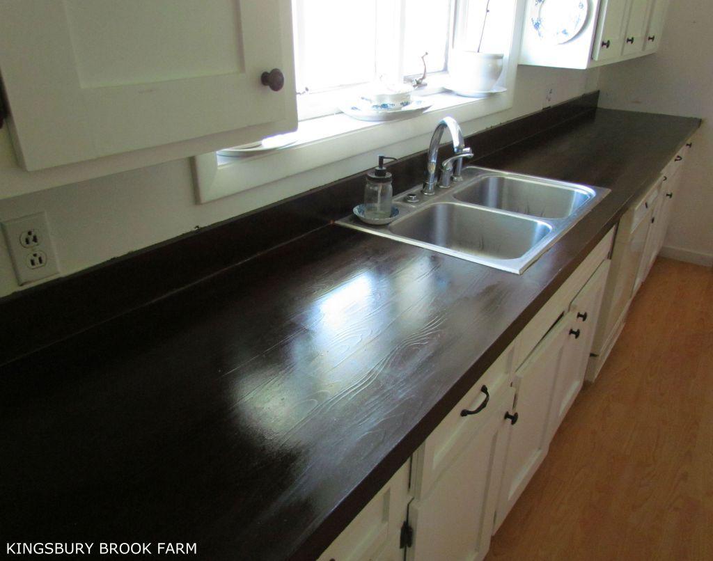 How To Make Laminate Countertops Look Like Wood Painting Kitchen Countertops Painting Laminate Countertops Laminate Countertops