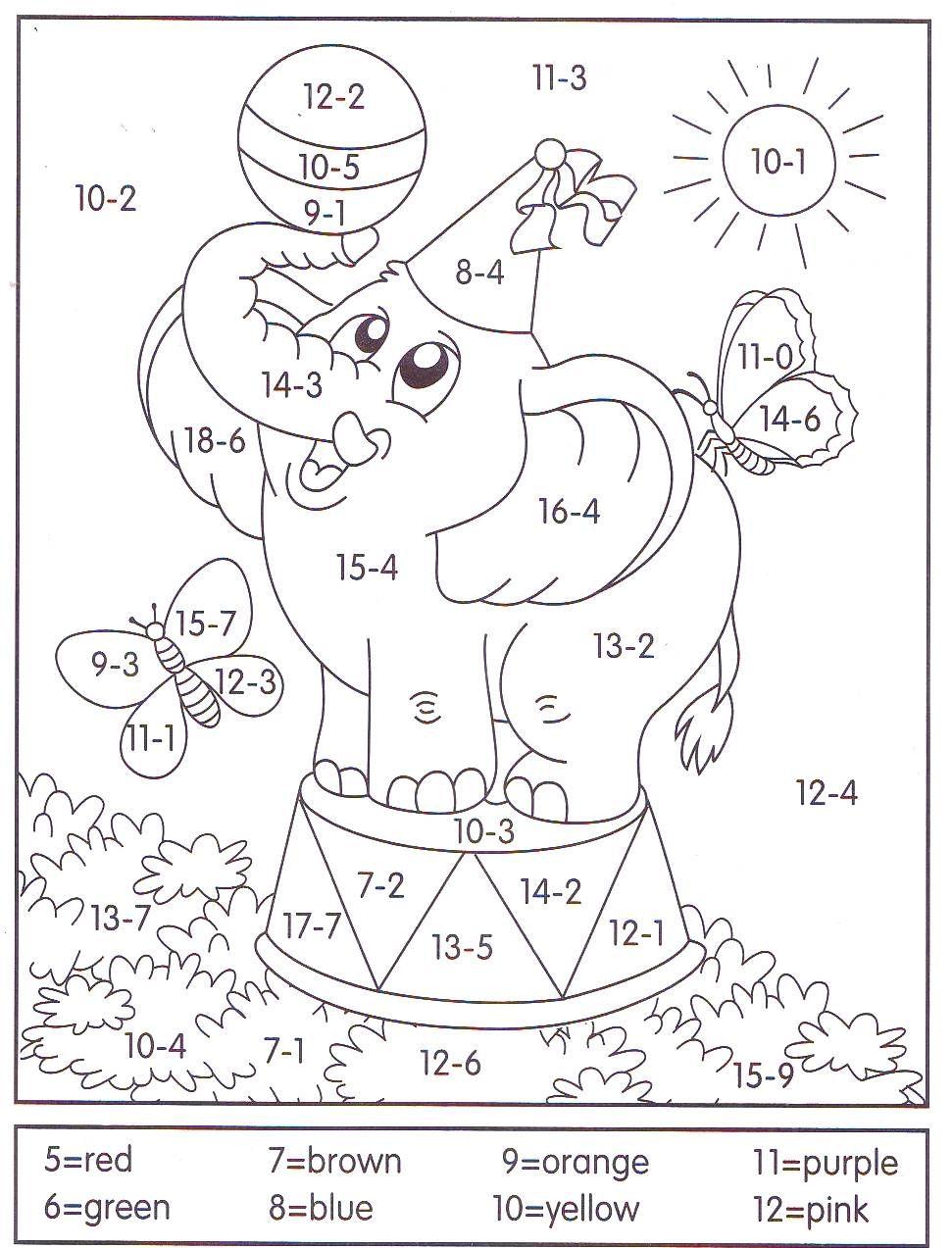 Ghihik Education Math Kids Math Worksheets Math Coloring