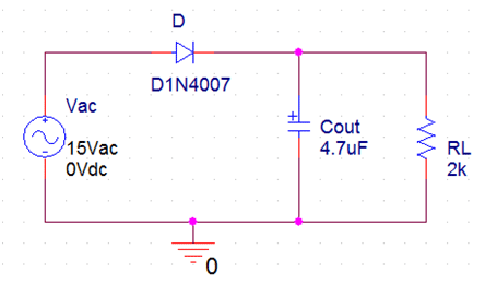 Half wave rectifier circuit diagram with filter Electronic