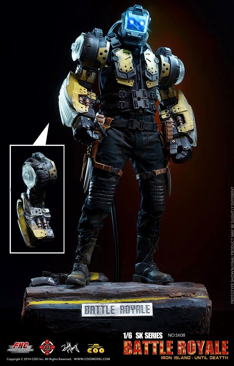 toyhaven: Check out this CooModel 1/6 scale Battle Royale series Iron Island…
