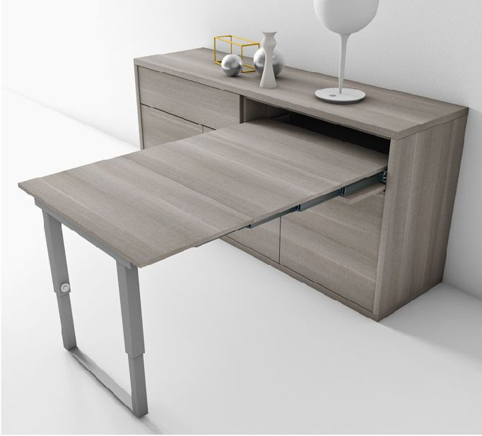 Un buffet qui se transforme en table 4 personnes en for Meuble qui se transforme