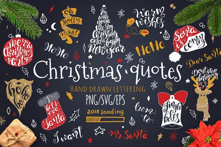 Merry christmas quotes lettering set easy create diy posters merry christmas quotes lettering set easy create diy posters greeting cards photo overlays m4hsunfo
