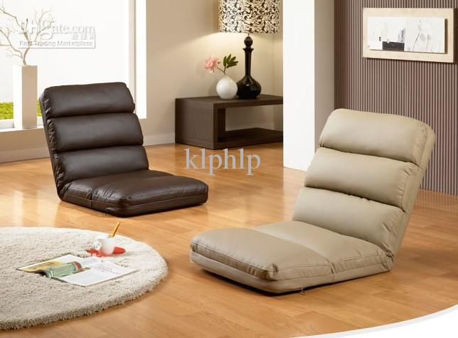 foldable floor seating chair 5 level of adjustable reclining back
