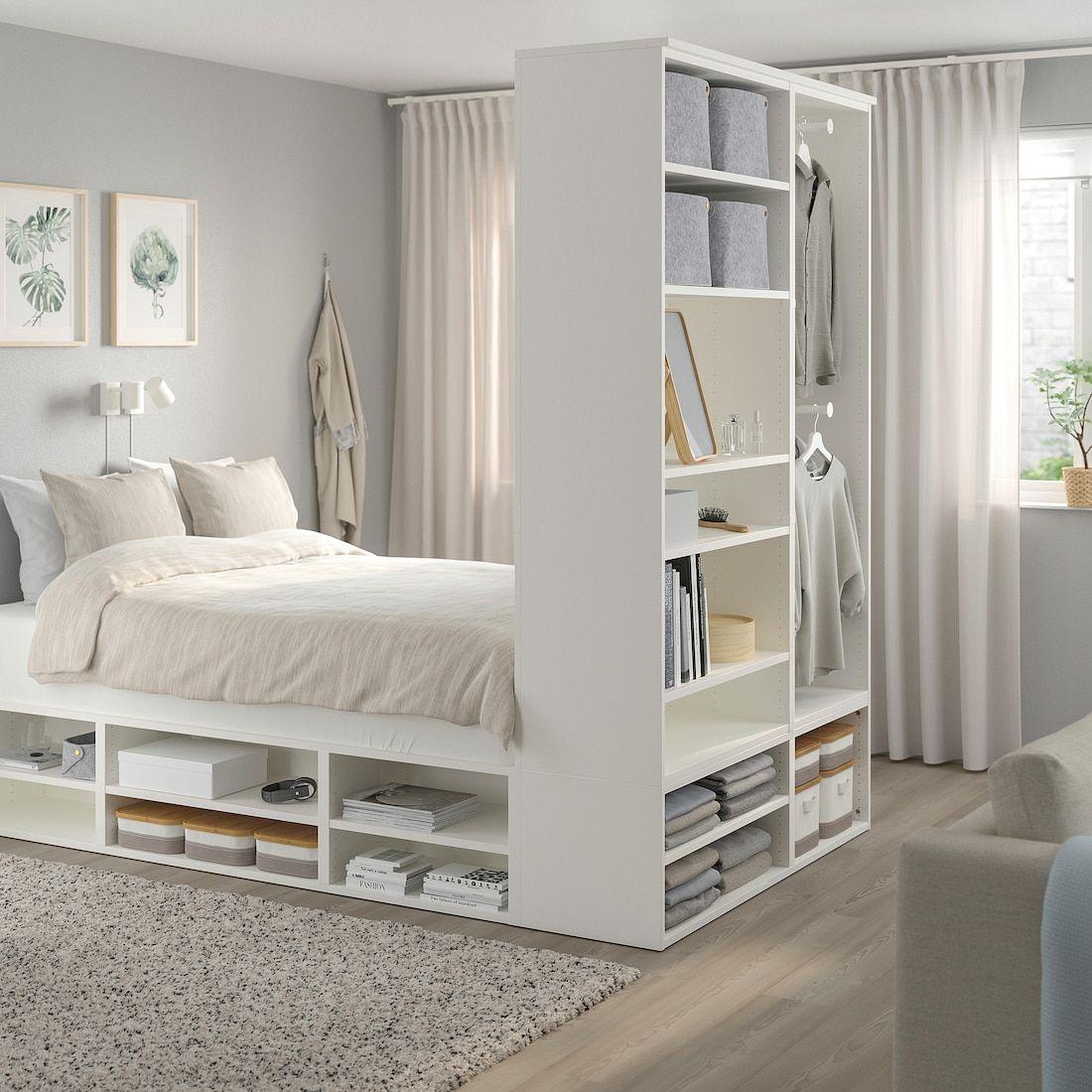 PLATSA Cadre lit avec rangement   blanc   IKEA   Lit pour petite ...
