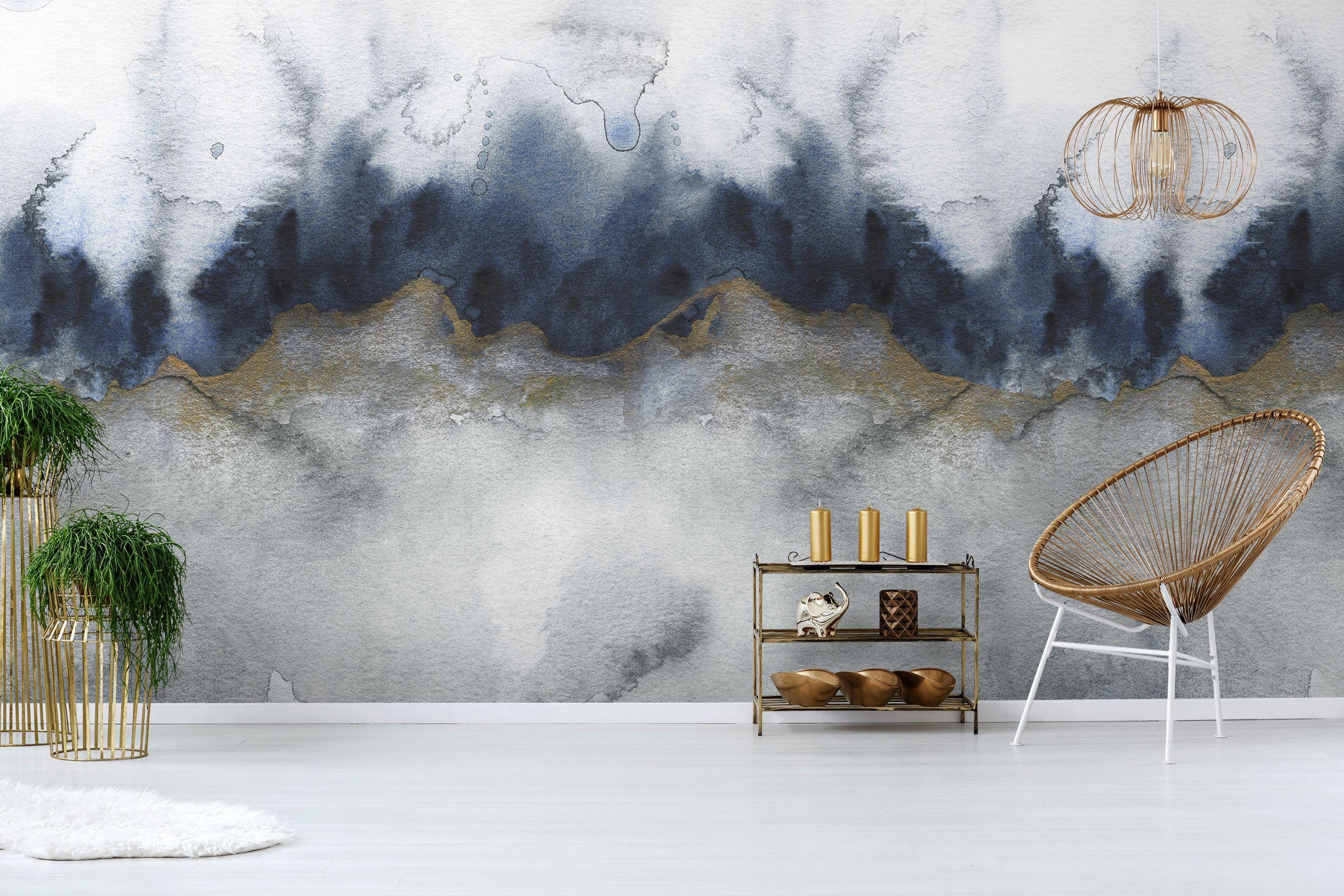 Mystic Grey Abstract Wall Mural Grey Abstract Wallpaper Abstract Wallpaper Mural Wallpaper