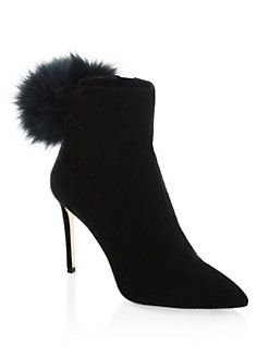 Jimmy Choo Tesler Bottines Pom Pom - Noir kql4eQ0