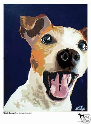 Antyki i Sztuka Druki artystyczne English Picture Print Rat Jack Russell Terrier Dog Art