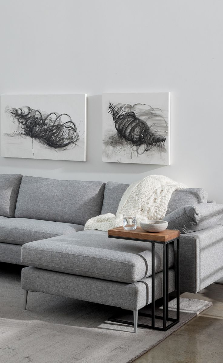 Nova Winter Gray Right Sectional Sofa Couch Decor Grey Sofa