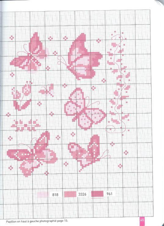 Schemi copertine neonato punto croce cerca con google for Punto croce farfalle