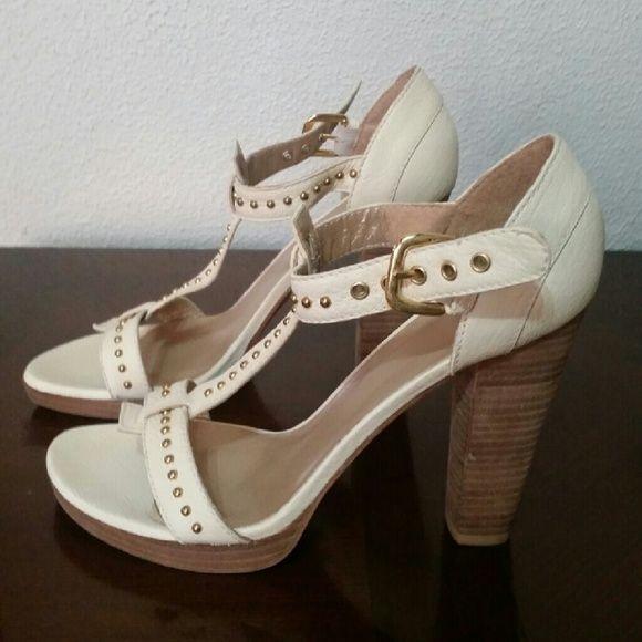 Cream colored dress sandals