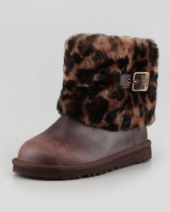 0306aa8c2bb Toddler & Youth Elle Animal-Print Cuff Boot, Stout by UGG Australia ...