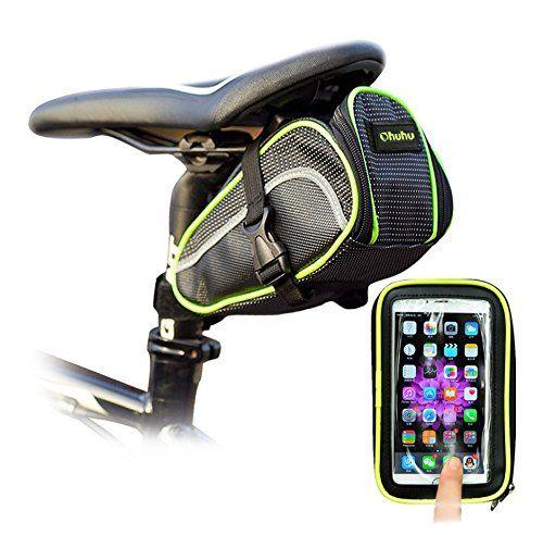 Ohuhu Bicycle Strap On Saddle Seat Bag Bike Phone Holder Bag For