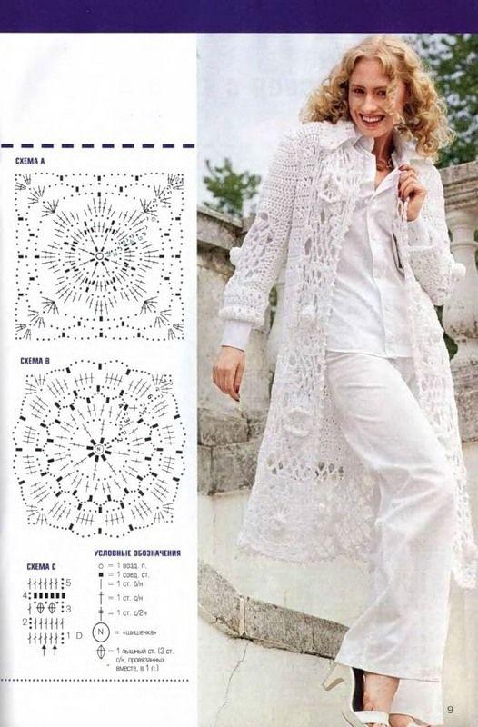 Coats And Cardigans Free Crochet Graph Patterns Crochet Women