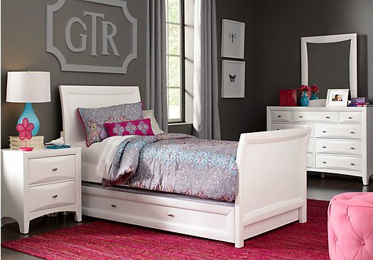 Shop for a Ivy League White 6 Pc Twin Sleigh Bedroom at Rooms To ...