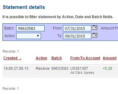 If you are a PASSIVE INCOME SEEKER, then AdClickXpress (Ad Click Xpress) is the best ONLINE OPPORTUNITY for you.I WORK FROM HOME less than 10 minutes and I manage to cover my LOW SALARY INCOME. Here is my Withdrawal Proof from AdClickXpress. I get paid daily and I can withdraw dine income is possible with ACX, who is definitely paying - No scam here http://www.adclickxpress.com/?r=Mara75&p=mx