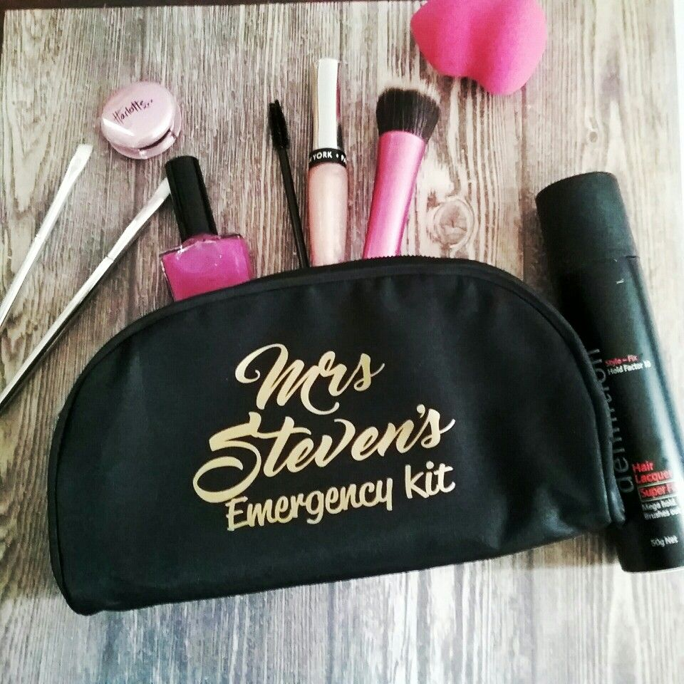 Personalised makeup purse,; Wedding makeup bag; bride