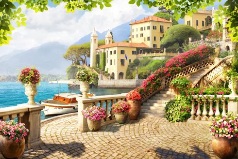 Terrazza sul mare - FOTOMURALI | STICKERS MURALI | Pinterest