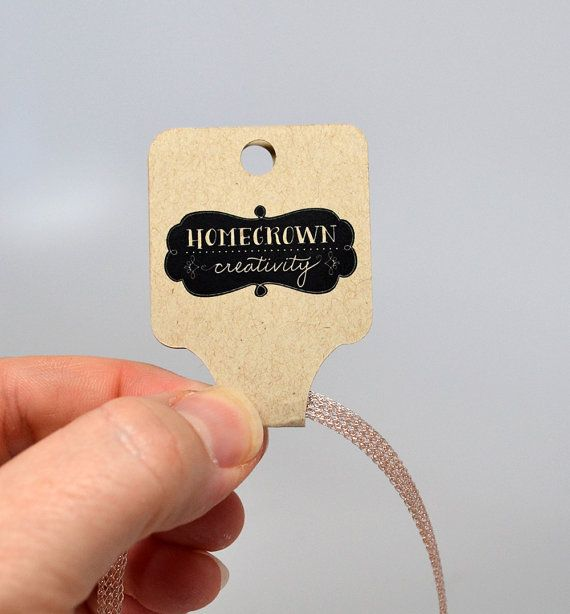 Custom Fold-Over Necklace Jewelry Tags Jewelry Display ...