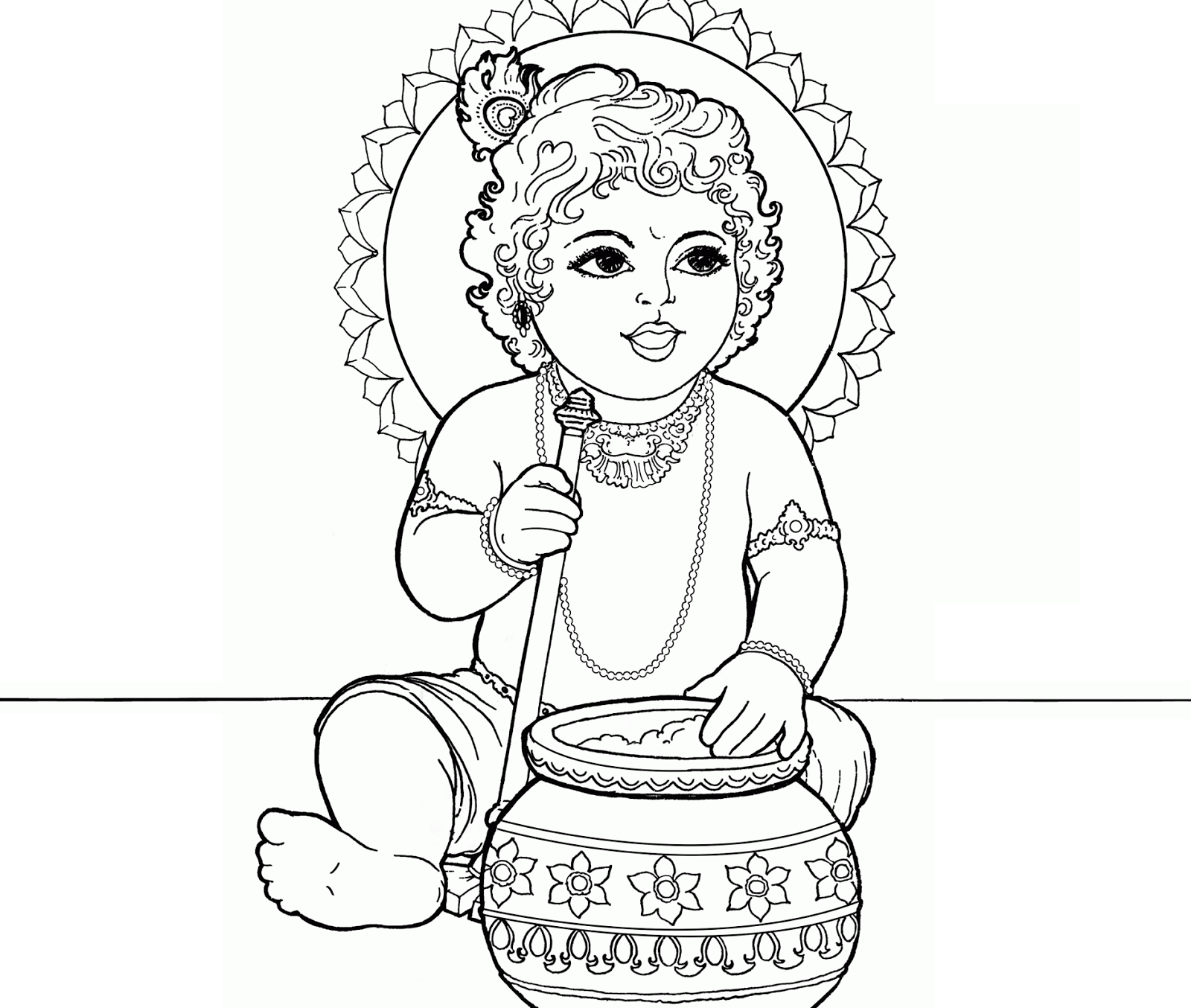 coloring pages on god krishna - photo#11