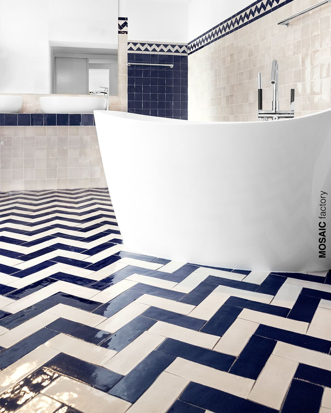 Blue And White Floor Tiles Kitchen Blue And White Tile Floor With A Pattern To Stand Kitchen Floor Tile Patterns Modern Kitchen Flooring Gorgeous Kitchen Tile