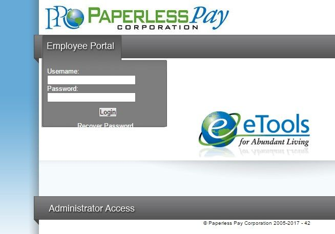 E Stub Paperless Pay Corporation Employee Portal Login Makes
