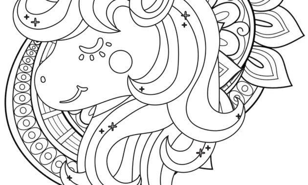Cute Unicorn Mandala Coloring Page In 2020 Mandala Coloring