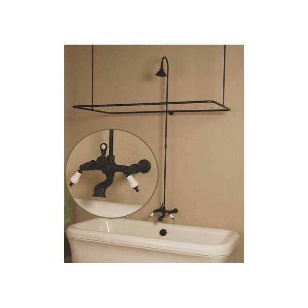 Side Mount Clawfoot Tub Shower Enclosure Set Clawfoot Tub Shower