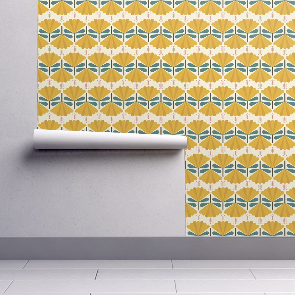 Isobar Durable Wallpaper featuring Carnation-yellow-04 by lemonni ...