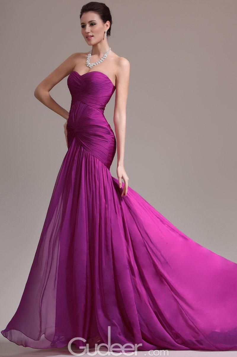 Amazing Magenta Evening Gowns Embellishment - Wedding and flowers ...